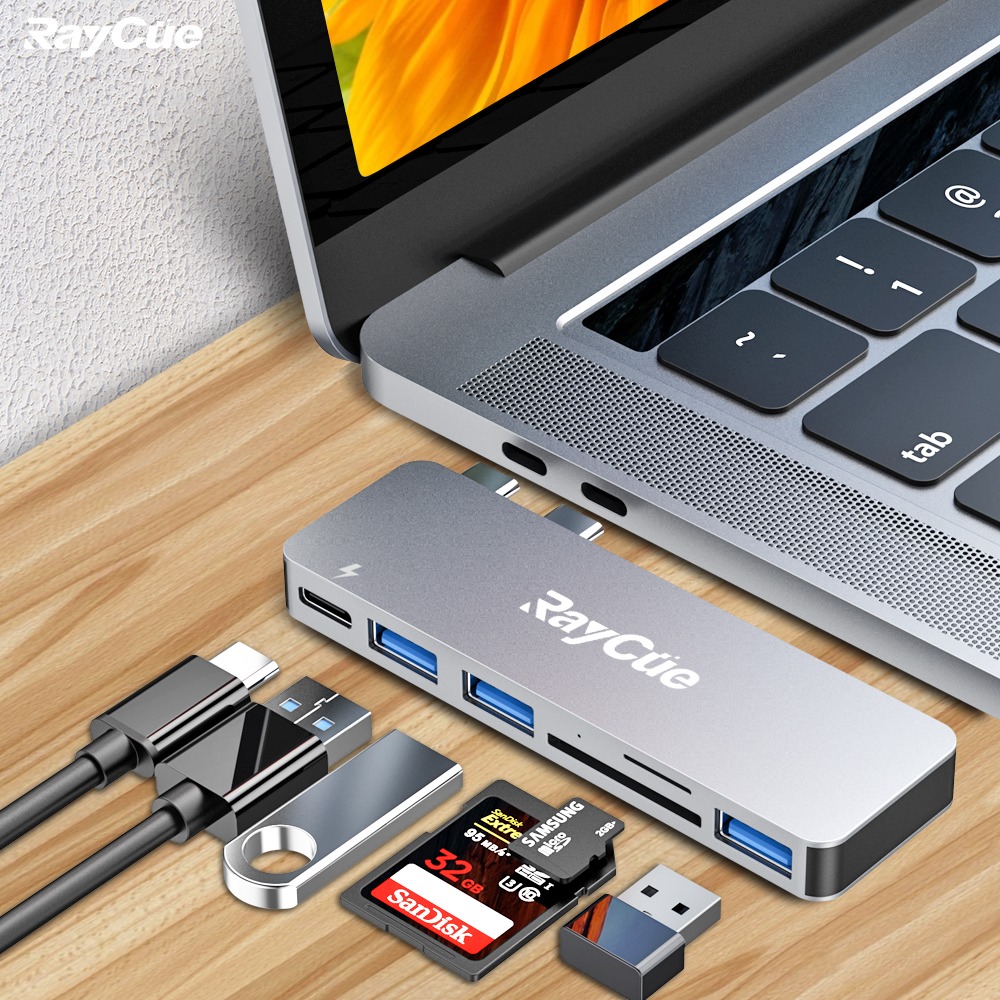 Is the challenge of working from home going well? Having the right tools on hand could help you stay productive #RayCue USB C Hub for Macbook Pro makes your work easier 👉   #usbchub #usbc #hub #typec #workingfromhome #homeofficeideas #macbook #macbookpro