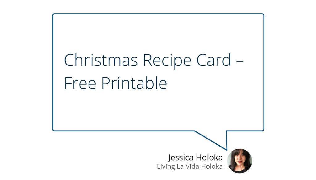 Print it on cardstock for a sturdy recipe card that will last for years!  #Christmasfreebie #Christmas #Christmasprintables