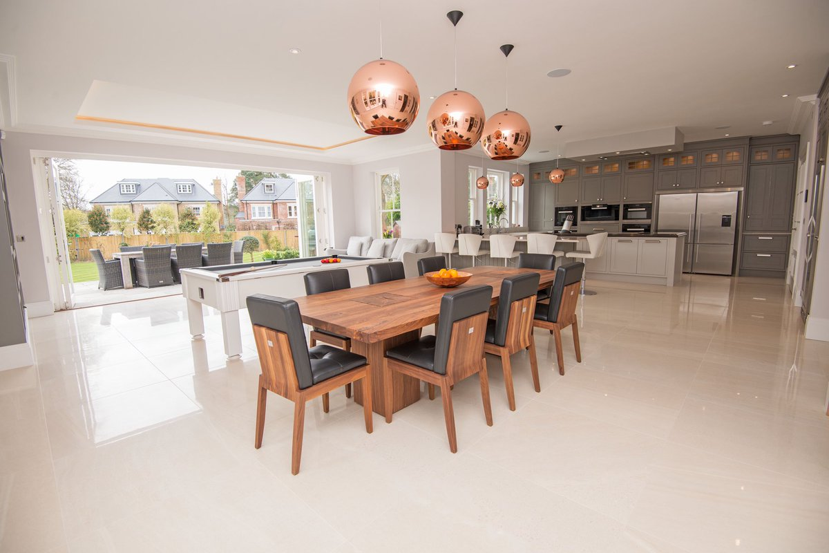 Open plan entertaining designed for a bespoke client build.   Read more:        #luxury #property #architecture #propertydevelopers #design #dreamhome #classical #style #newbuild #luxuryproperty #interiordesign  #qualityhomes #homebuilder #propertydeveloper