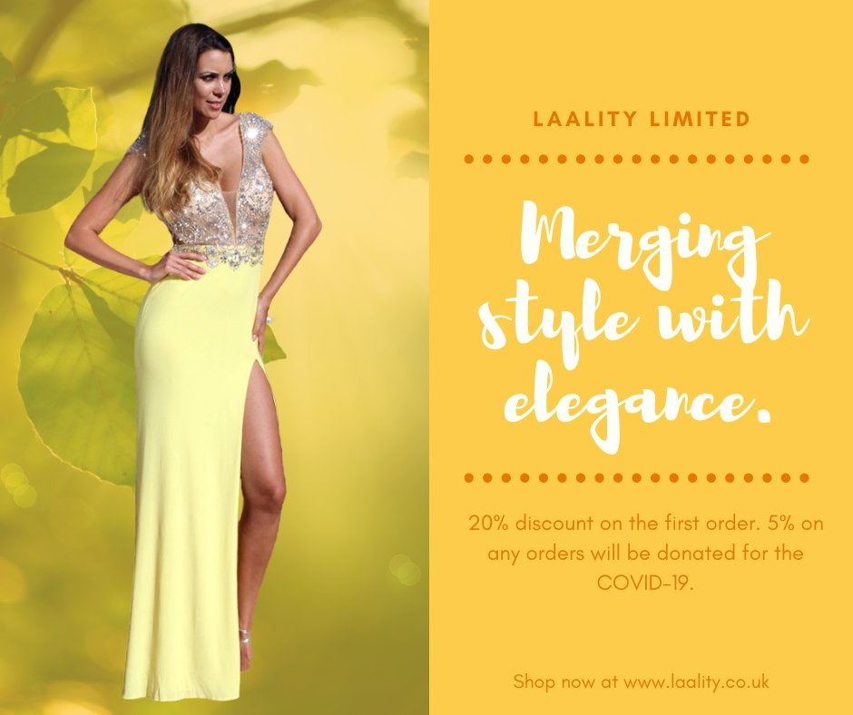 👜👗 Laality Limited 👗👜  Merging Style with Elegance.   Laality is offering a 20% discount on the first order. 5% on any orders will be donated for the COVID-19.  Shop now at  to see the list!  #laality #indowestern #dress #fashion #style #ootd #covid19UK
