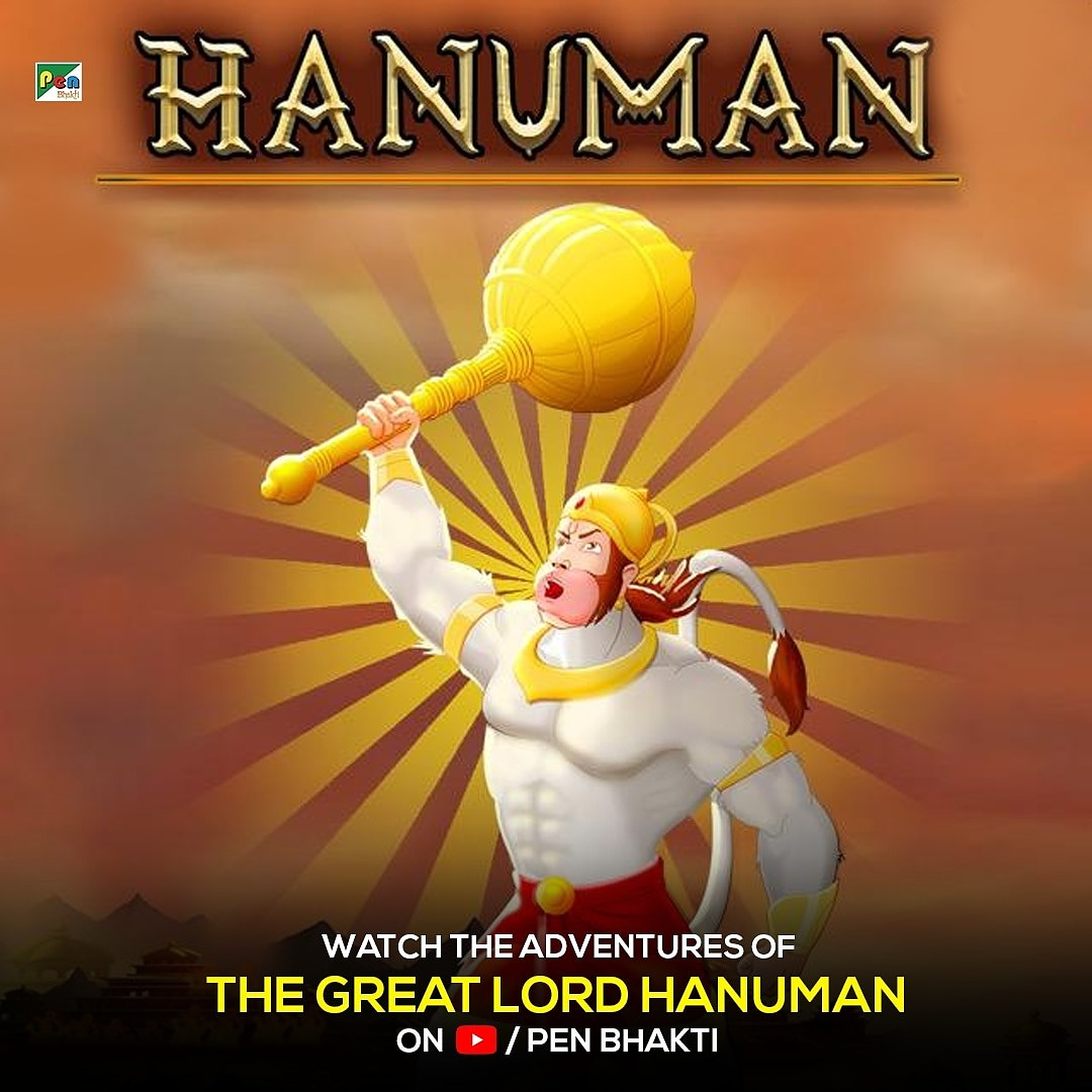 Pen Studios wishes everyone a happy Hanuman Jayanti. Lets celebrate by watching this adorable animated film Hanuman. Just click here and watch now bit.ly/3bZlh6d . . #freemovies #youtube #hanumanjayanti #kids #animationvideo #staySafe #stayhome #entertainment