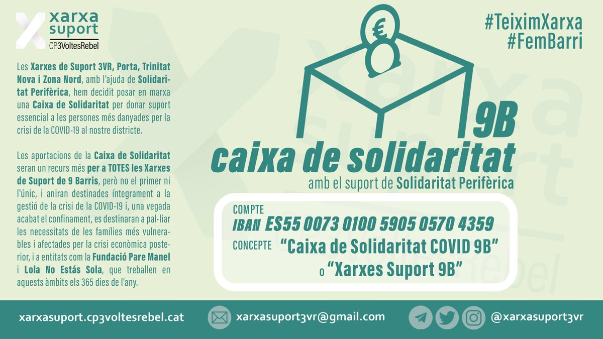 """Xarxa Suport 3VR (Nou Barris) on Twitter: """"Les #Xarxes de Suport ..."""