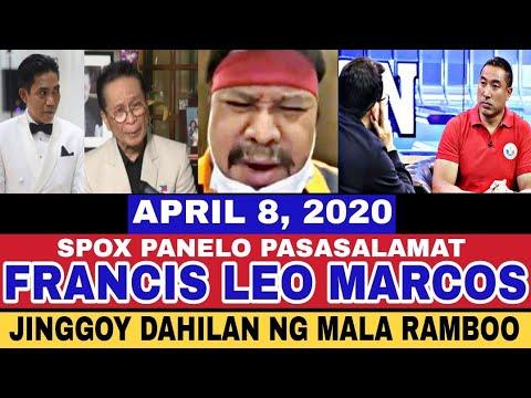 LATEST NEWS APRIL 8, 2020/ SPOX PANELO NAGPASALAMAT/ JINGGOY KAYA PALA NAGMALA RAMBOO -  (2020)