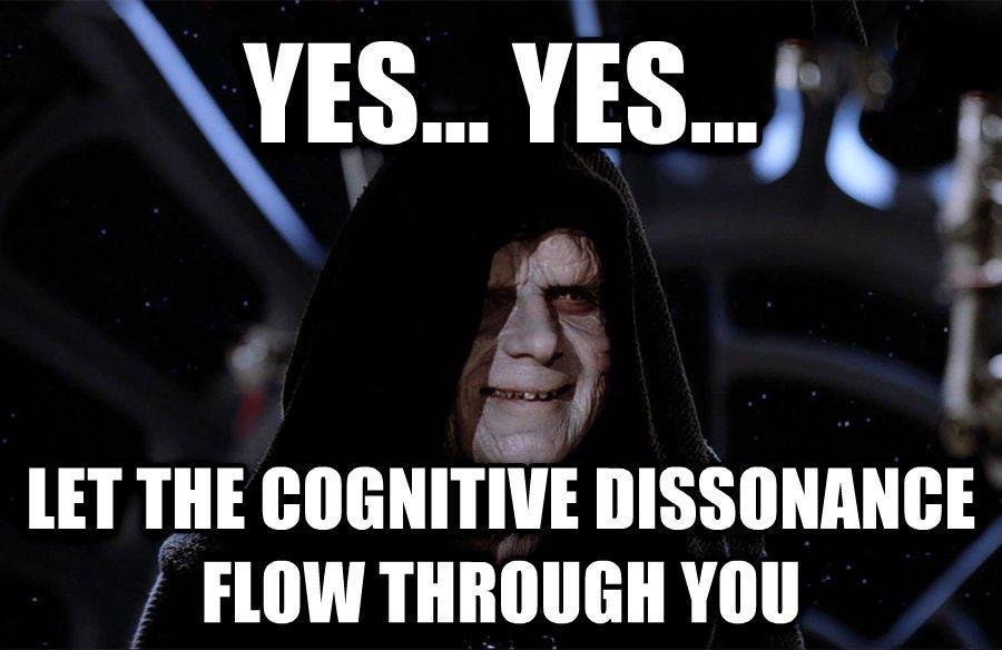 @Dimmu141 Aistin kognitiivista dissonanssia.