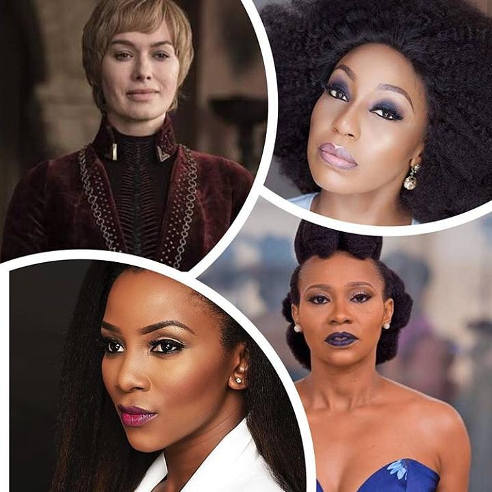 """Movie lovers!!! Who do you think would kill the role of """"Cersie"""" between this three amazing Nigerian Actresses?  1. Rita Dominic 2. Genevieve  3. Nse Etim  Who would for you? #MovieLovers #gameofthrones #Courtevillepeople #Bestplacetoworkpic.twitter.com/zKgD7j8ccD"""