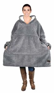 Kato Tirrinia Oversized Sherpa Hoodie Sweatshirt Blanket,Super Soft Warm Comfortable Giant Hoody Front Giant Pocket Sweater Adults Men Women Teens College Students  More:   #AT #Boys #Brand #Computer #Girls #House #Mens #Womens