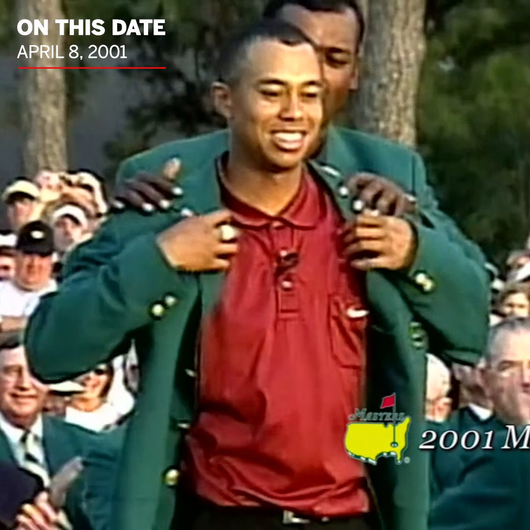 19 years ago today, @TigerWoods completed the 'Tiger Slam' — winning four straight major championships 🐯🏆