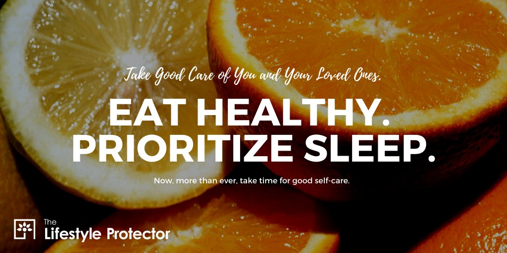 It is even more important during these times to practice self care. #EatHealthy #GetSleep #SelfCare #YouTime #LifestyleProtector #HealthyLifepic.twitter.com/ZI7Op2oPKm