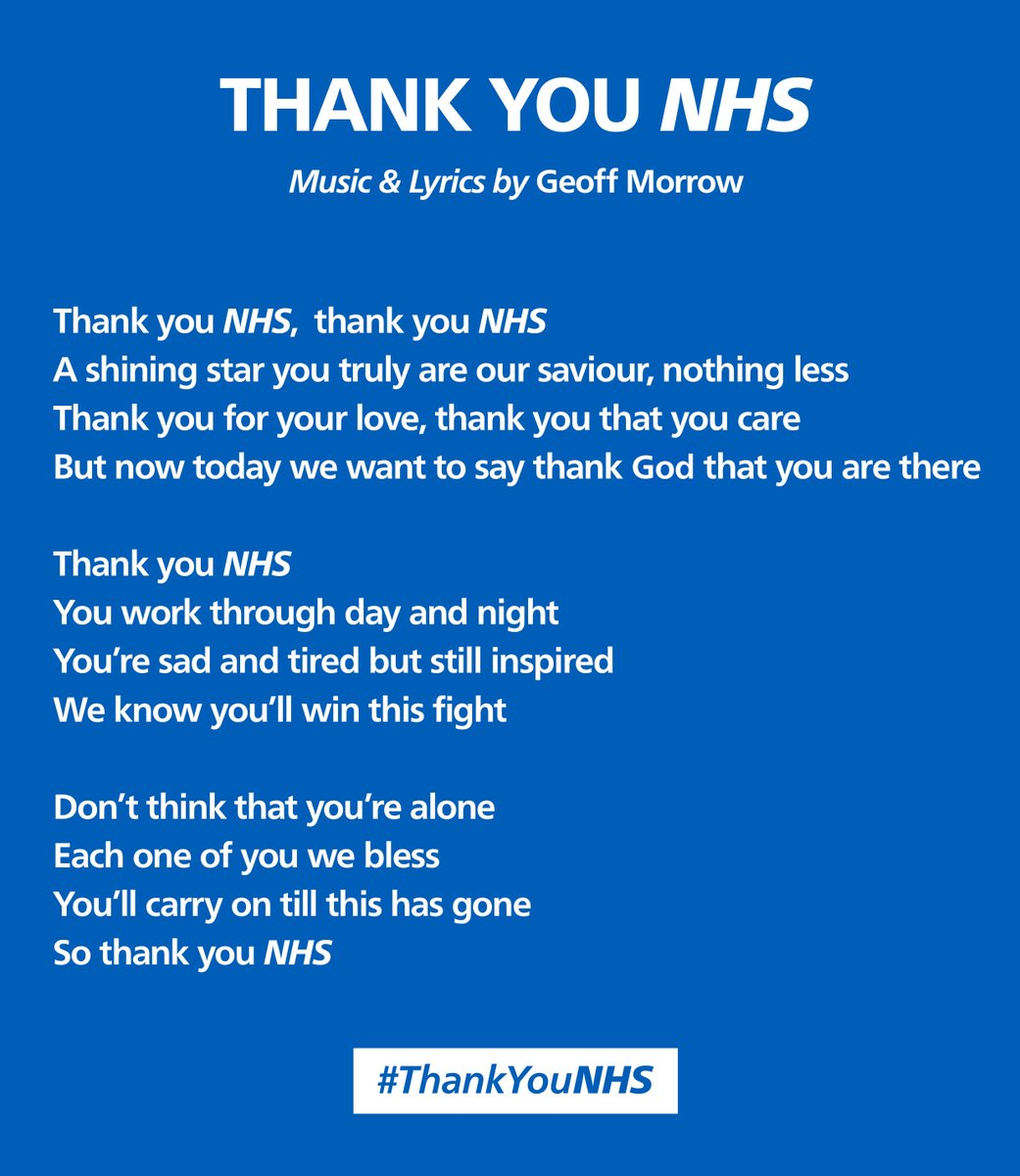 Thank You Nhs Song Thankyounhs Nhs Song Twitter