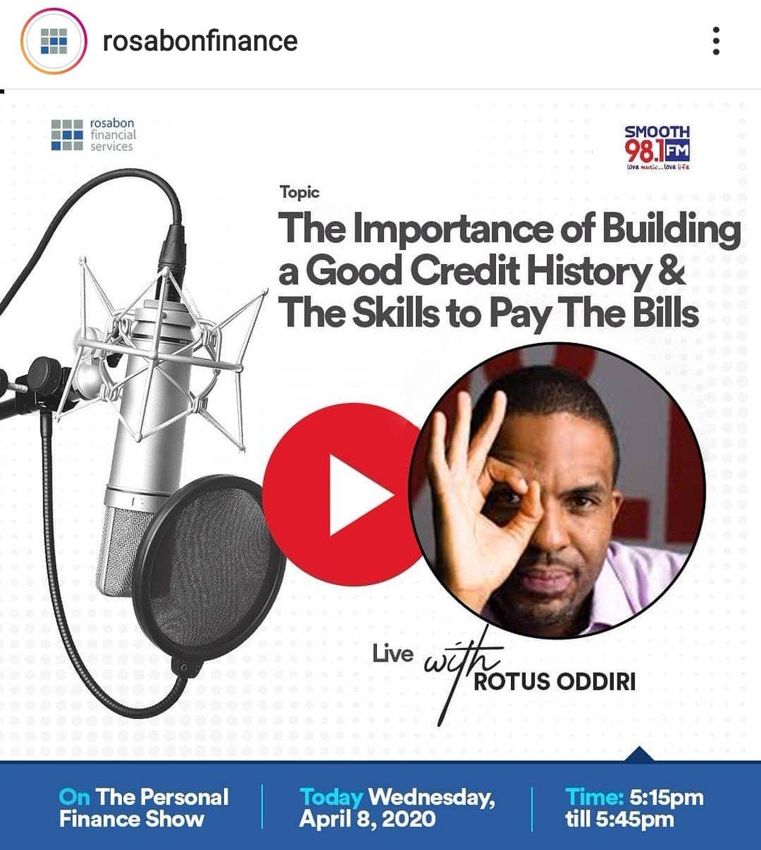 @Smooth981FM at 5:15pm via @RosabonNigeria 🤓📊📉📈 https://t.co/bAoHdH6VH3