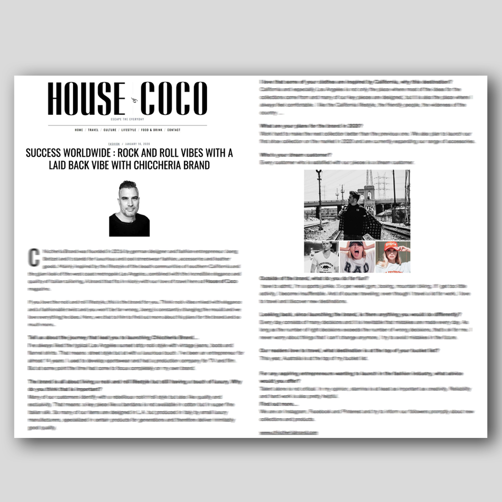 Thanks @house_of_coco London for the interview!   #fashionbrand #newcollection #spring #summer #style #streetwear #luxuryfashion #london #uk #chiccheria #lastyle #madeinitaly #swag #dapperstyle #menswear #streetstyle #italyfashion #houseofcoco