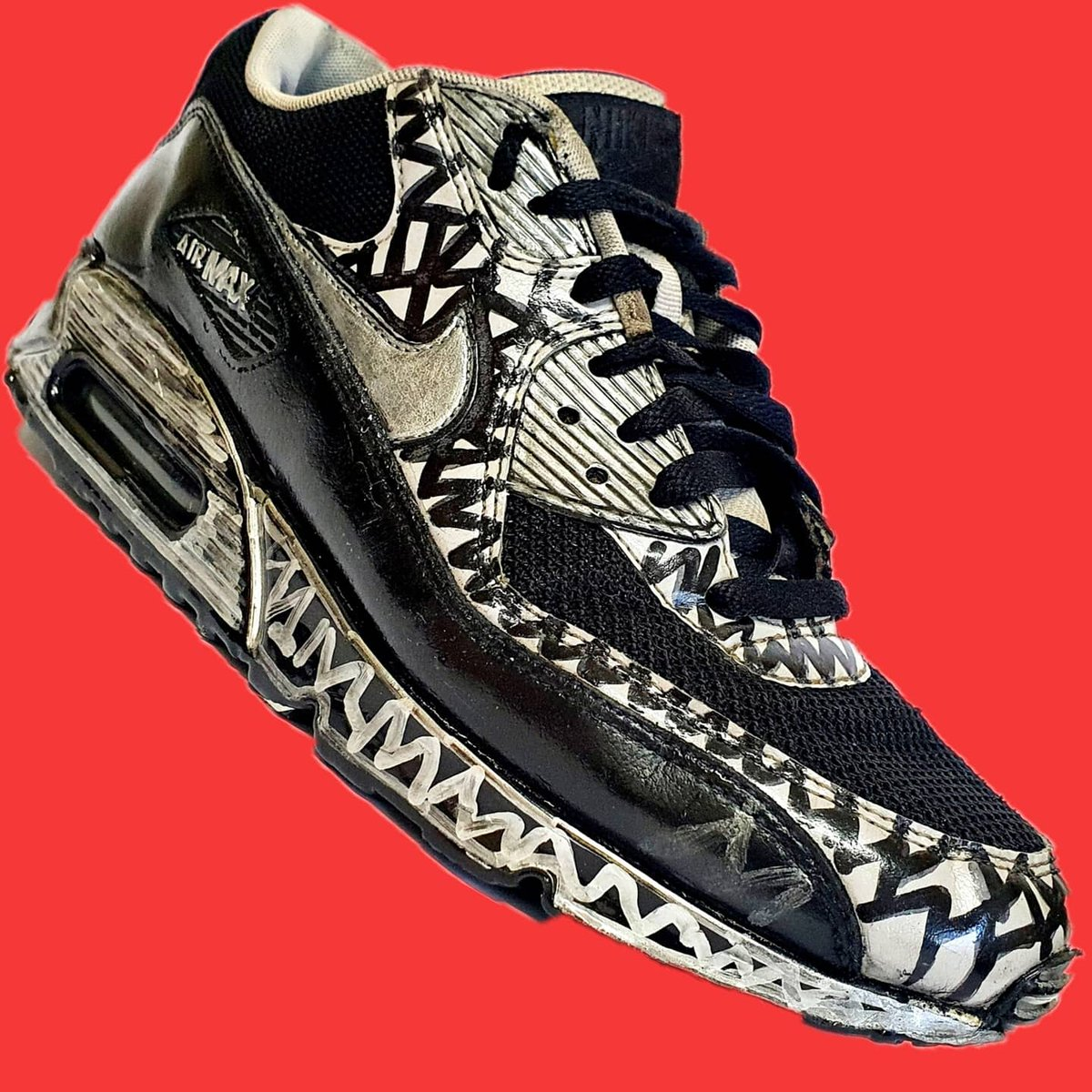 Nike Air Max 90 ( Custome ) . #customsneakers  #mj #air #airforce #jordan  #nike #Art #artist #disagne #popart #gallery #stunning #modernabstract #modernarr #air #stunning #fashion #trend #no1 #photo #photooftheday #kicks #kickstagram  #customshoe #airmax #NIKE #stayhome #nike90