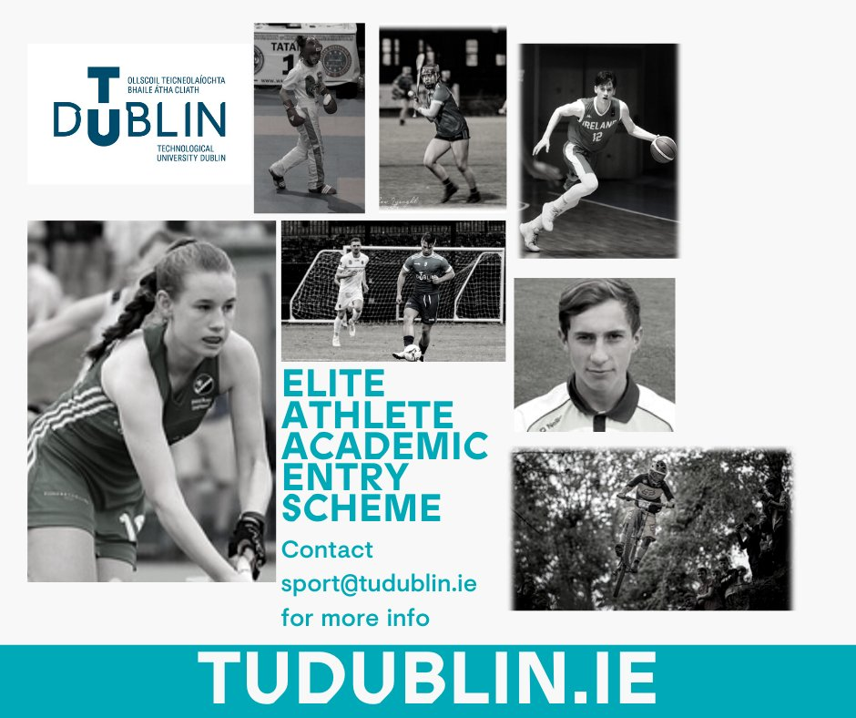 Applications are open for the @WeAreTUDublin Elite Athlete Academic Entry Scheme 2020! 🏀⚽️🎽🚴♀️🏑🏸  Click the link below ⬇️⬇️ for all the info.   https://tudublin.ie/study/undergraduate/scholarships/sports-scholarships/…  #WeAreTUDublin