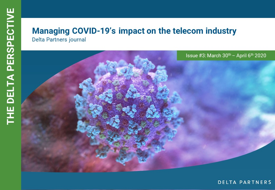 An update (#3) to our insights and findings to the impact that Covid-19 has had on the TMT industry can be found on our website in the link below. Delta Partners remains at your disposal in any way we can be of assistance https://www.deltapartnersgroup.com/managing-covid-19-crisis-3 …
