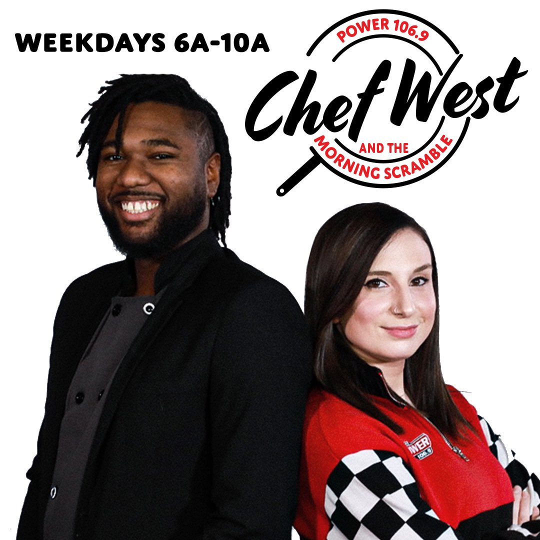 HAPPY ONE YEAR ANNIVERSARY TO CHEF WEST & THE MORNING SCRAMBLE!!!   Wow. It's crazy to think that one whole year ago we were jumpin' on the mic & wakin' up with the city for the very first time. The last year has been an absolute whirlwind...pic.twitter.com/zM44B4ZWH7