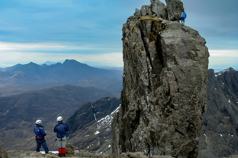 Reminiscent of a past adventure on the Skye Cuillins ascending the north face of the famous 'Inaccessible Pinnacle' - a guided traverse of the 'Ridge', and the premises where they make a famous dram or two! #climbing #whisky @TwoSkies1 @steamingboots