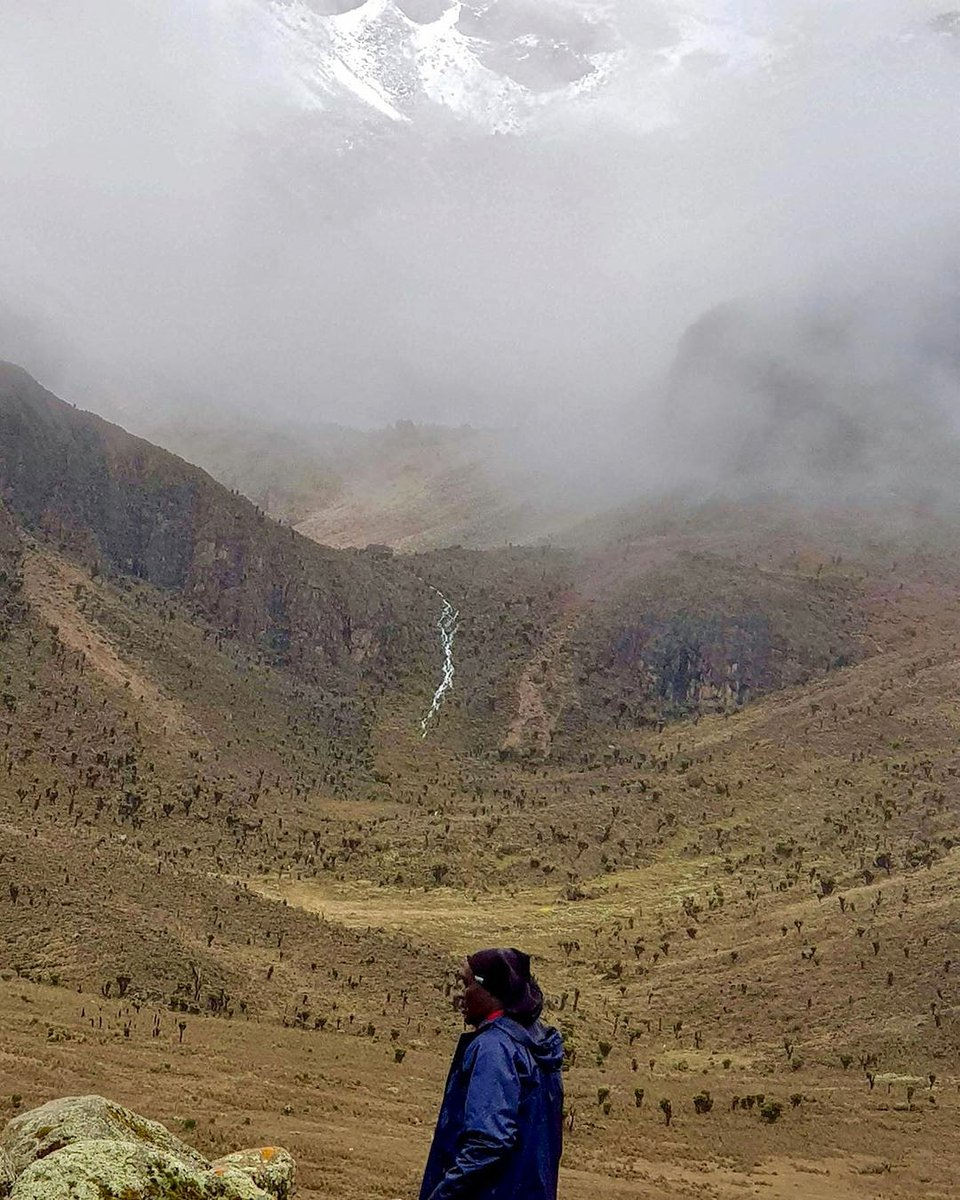 Nature always wears the colors of the spirit 📍Mackinders Camp, Mt. Kenya .  #mountainclimbers #hikinglife #foggyday #snowycaps #mountaineering #mountainlife #mountains #hiking #mist #highaltitude #mountainclimbing #cloudyday #mountaineers #foggynight #foggy #climbing #trekking