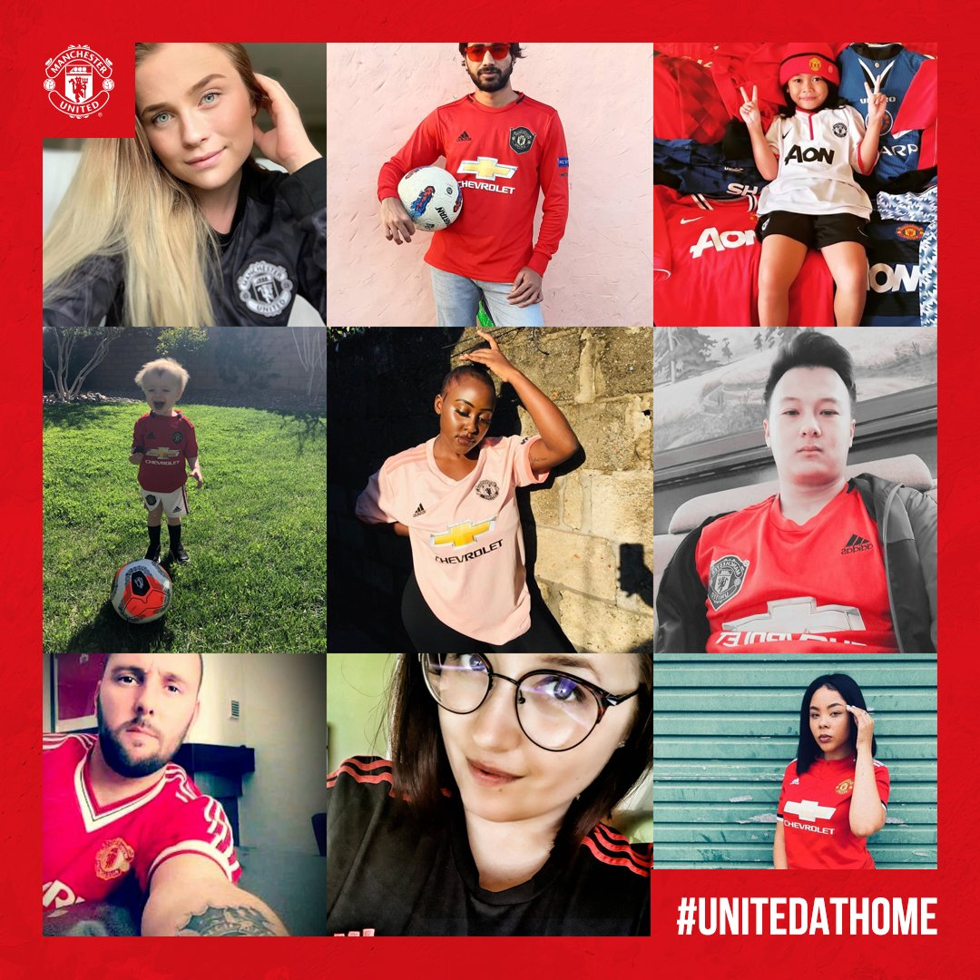 Home is where the heart is   Share a picture of yourself in #MUFC colours from your home or garden, using #UnitedAtHome, for the chance to feature on club social media channels.   #hometeampic.twitter.com/Fxl6HQdqIn