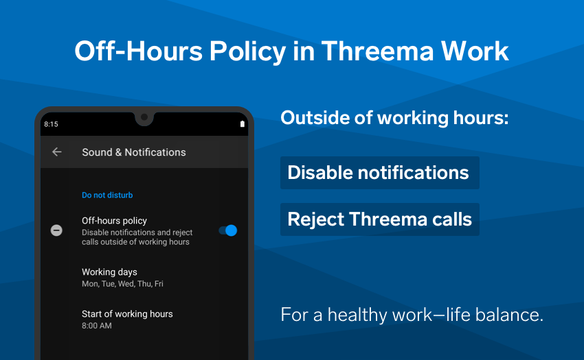 Threema Work's off-hours policy is now also available on iOS. 🧘 https://t.co/s7FmsBEbe4