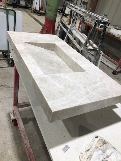 Create your space around this Taj Mahal natural quartzite sink.  We'll catch you on this install later! #quartzite #newhouse #dfwbuilder <br>http://pic.twitter.com/zr7ktPL7Bb