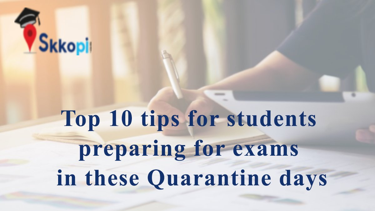 Top 10 tips for aspirants preparing for exams in these quarantine days to follow.  Check the all the steps https://blog.skkopi.com/tips-for-quarantine-days-for-students/ …   #aspirants #neetaspirants #upscaspirants  #jeeaspirants #sscaspirants #students #selfpreparation #homeprepration #lockdownlife #lockdownpic.twitter.com/pQGWpuak7i
