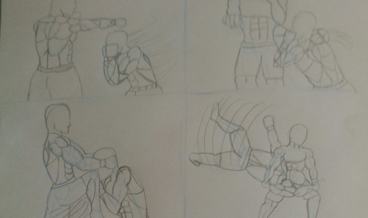 My attempt at a Fight  #Practice #Martialarts #drawingspic.twitter.com/YrKw1VRXjb
