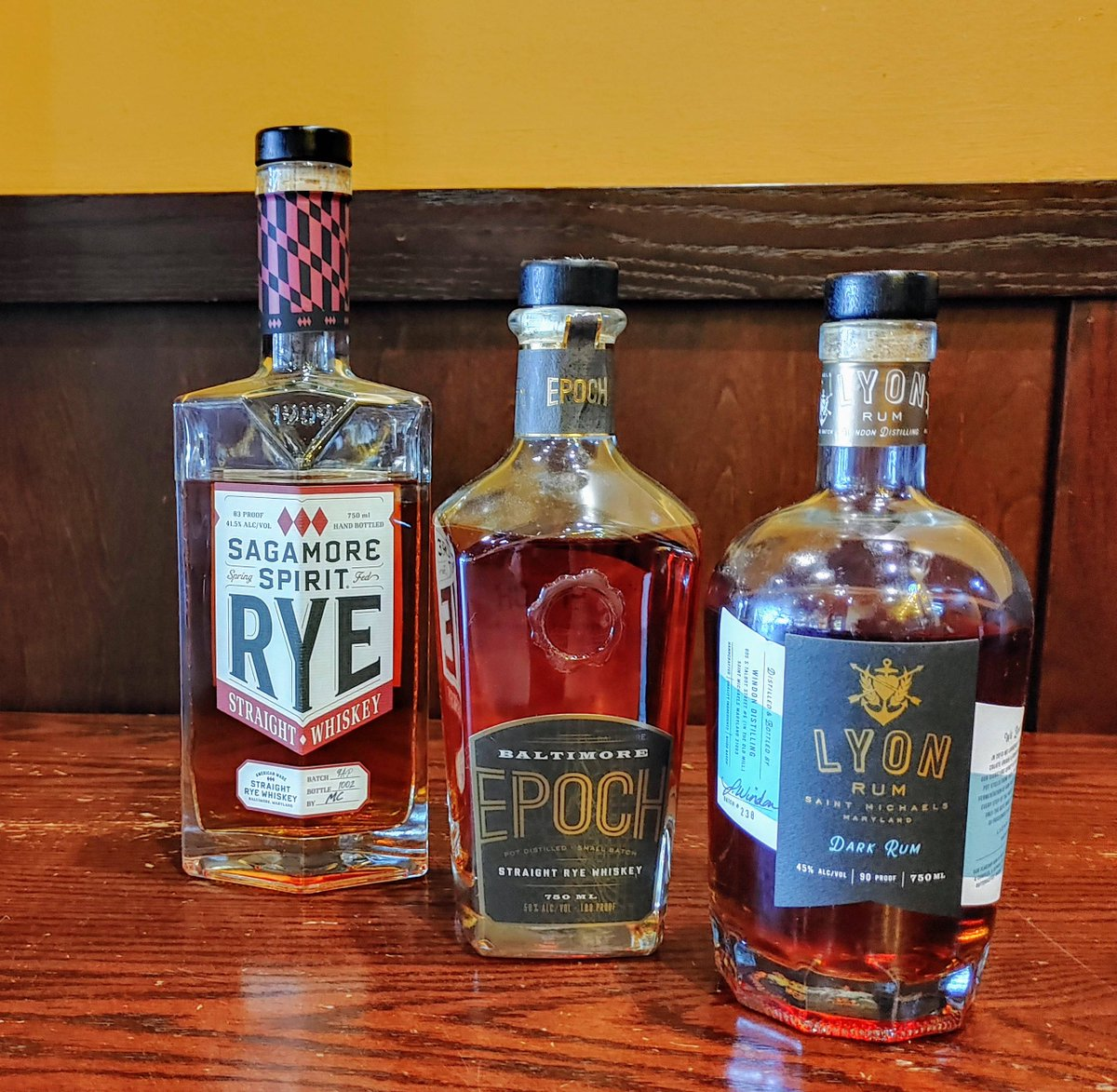 Welcome Back WHISKEY WEDNESDAY (with a twist). Craft Cocktails to go!   We are featuring local distilleries AND a RUM! Sagamore Spirit, Baltimore Spirits Company, and LYON RUM.  Ryes Up with Epoch Rye, Baltimore Old Fashioned with Sagamore, Bay and Stormy with Lyon Dark! https://t.co/UW1AzrWJtL