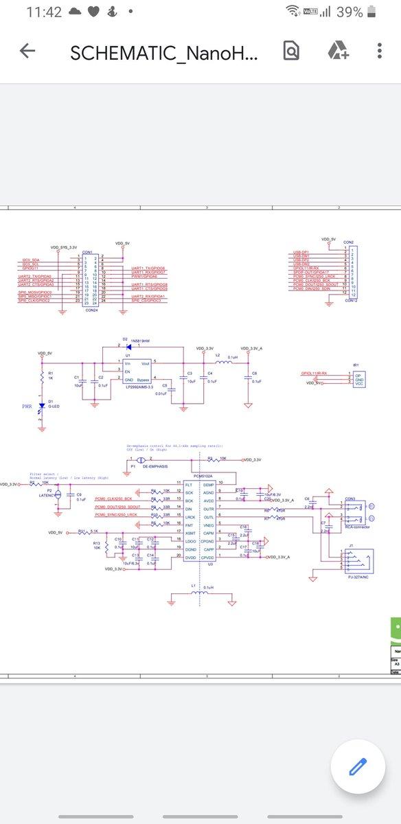@neo_neet_gadget PCM5102AのSCKを NEO2のPA6へ後は の下の方を 参照してくださいな最終的にはPCM5102Aには独立した電源供給…更にアンプにTPA6120を組み込み両電源は2S×2でplus2は3P1Sの4Vで稼働合計9本で鳴らす予定です