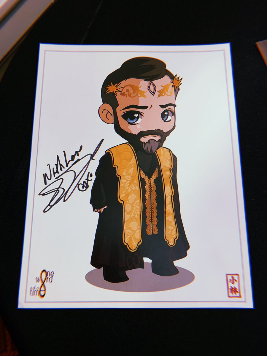 ITEM SPOTLIGHT OF THE WEEK | TRPF was thrilled to have this @positivityowaat original Russell Lightbourne art signed by the epic @iamjrbourne for a future #The100 fundraising project.   Happy Birthday JR! Thank you so much for your support and kindness!  <br>http://pic.twitter.com/arQeZT6d0u