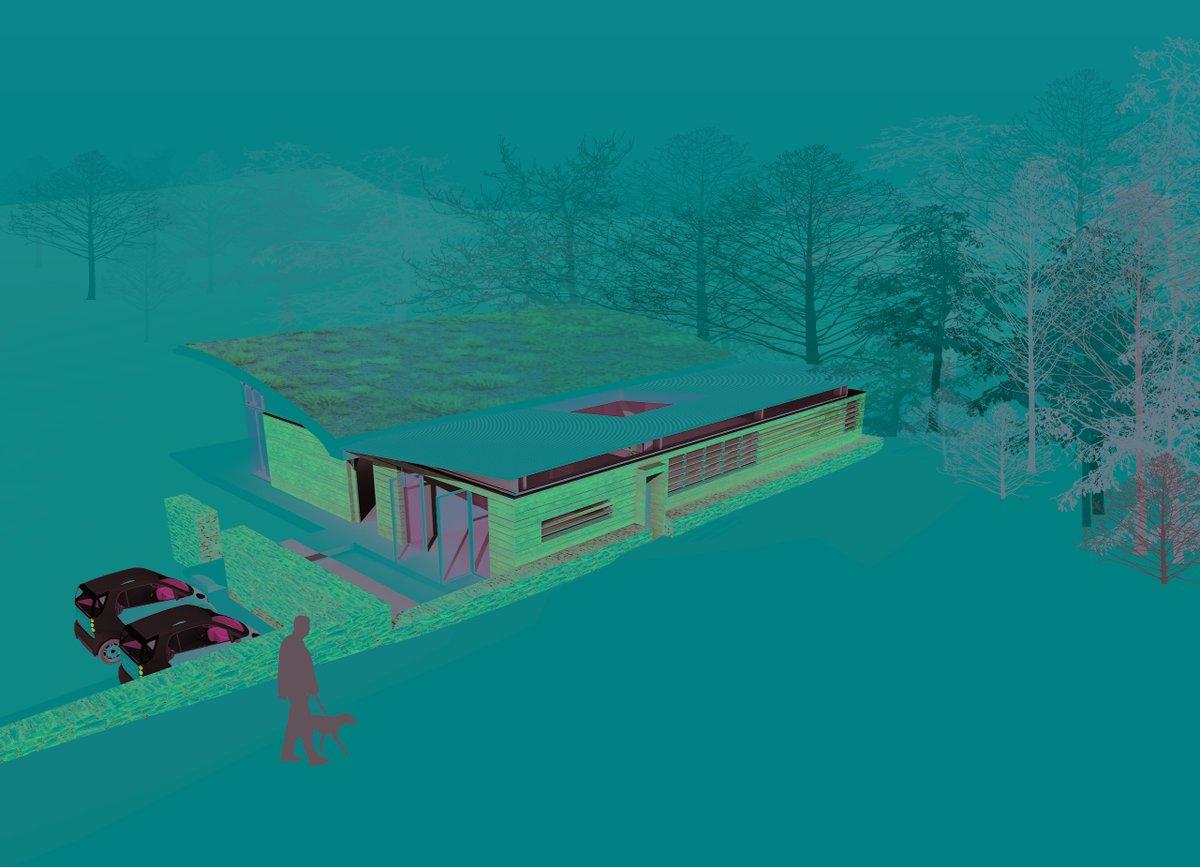 Eco House Devon #3Dmodel #shapearchitecture