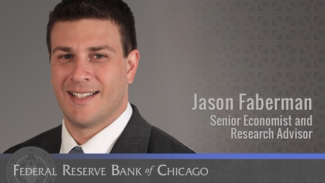 #FedFiles: Jason Faberman is a senior economist and research advisor on our regional team. He explores #employment and the labor market, particularly the interactions between employers and workers. https://t.co/zO3Q35F3EO https://t.co/r0rRlp2dC8