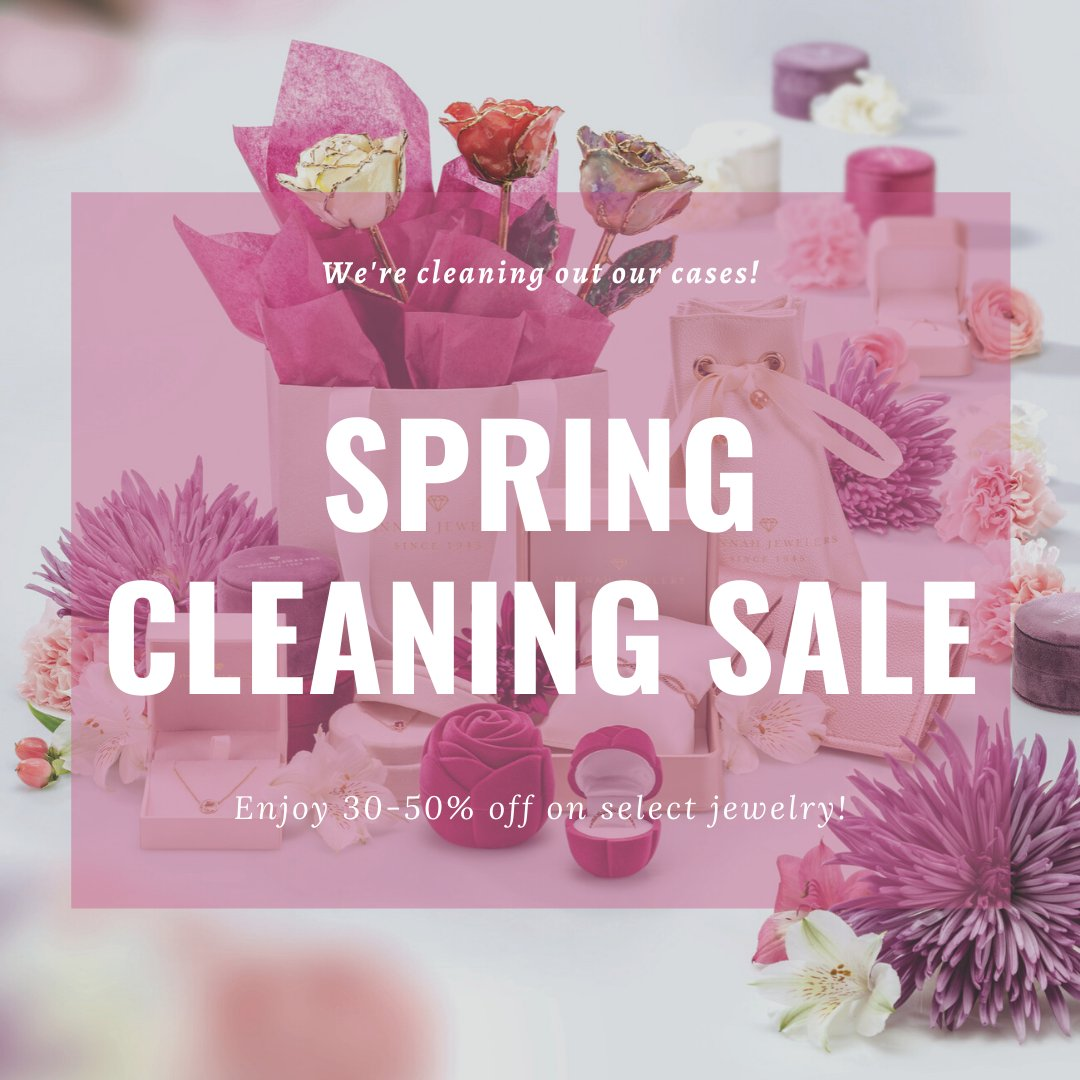 As many of us are well aware, now is proving to be a perfect time for some #springcleaning! While we're deep cleaning our showroom and cleaning out our cases, we will be regularly adding jewelry to our new #jewelrysale page. Check out  and save 30% to 50%!