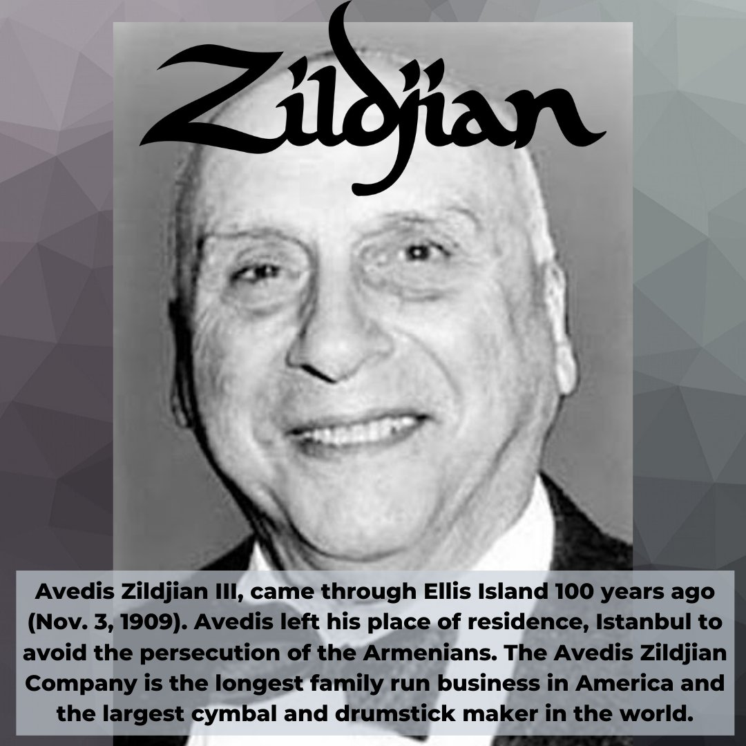 Have you ever used Zildjian cymbals or drumsticks?  Thank Avedis Zildjian & @ZildjianCompany for that!  #AmazingArmenians #ArmenianGenocide #Armenia #Zildjian #drumsticks #Cymbals https://t.co/XZoHmjN2Hd