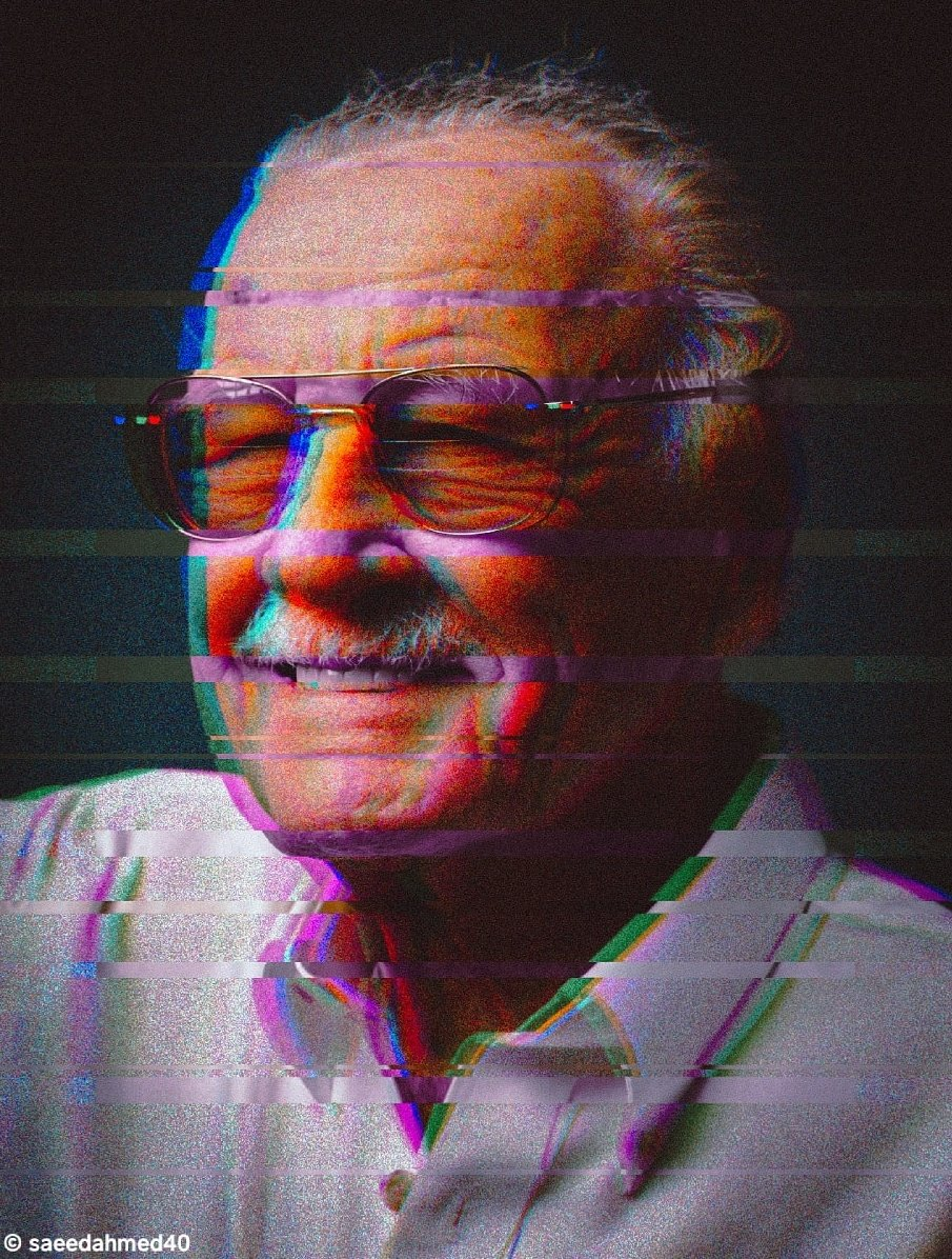 @marvel legend himself Stan Lee. Thanks for everything you have done  #marvel #stanlee #workhard #edit #editsession #photographyislife #getworkdone #getitdone #gosuperjustsaiyan #workharder #lightroom #everydaygrinding #photoshop #photoshopart #photograph #editing #glitchpic.twitter.com/kldOnYgVRB