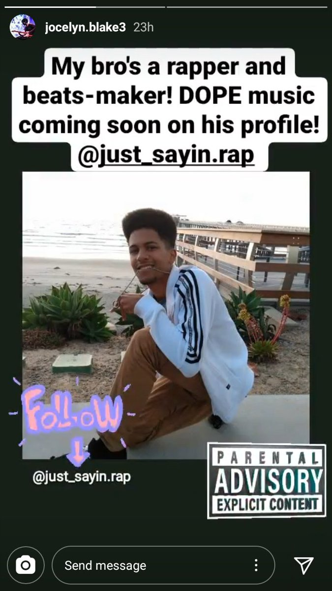My youngest is about to start releasing some of his rap at @just_sayin.rap on Instagram. If you like hip hop or just supporting indy music & emerging artists, give him a follow. #HeadphonesIn releases Saturday. pic.twitter.com/Wkn7VgtA65
