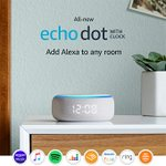 Image for the Tweet beginning: Amazon Echo Dot with Clock