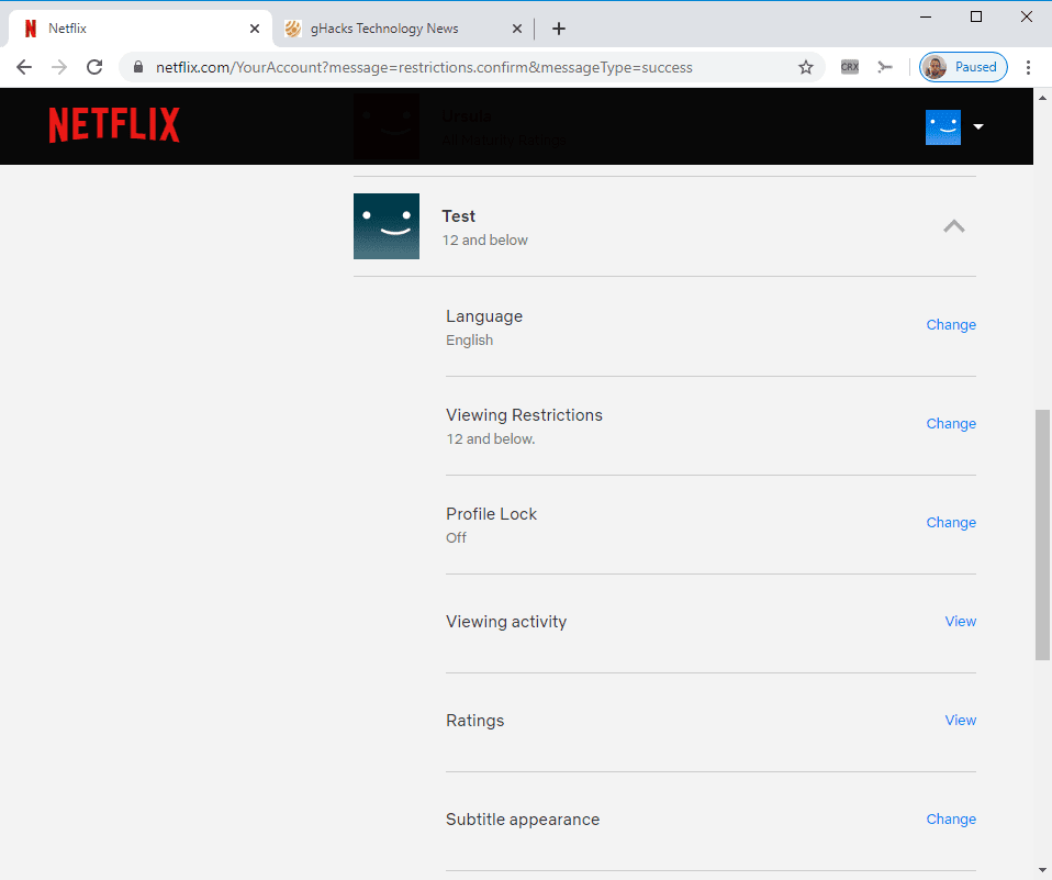 test Twitter Media - You can now Pin protect Netflix profiles – gHacks Tech News https://t.co/DkSsEXSaLa https://t.co/mHAhGQ2s97