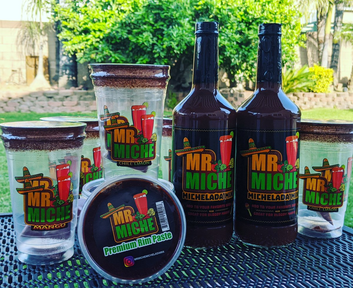 Are we drinking #michelada !! #MrMicheladaMix you guys have to try my friends mix!! I'm doing deliveries in Ontario area and he's doing deliveries in Azusa area. DM me for info!!!pic.twitter.com/RRn5ksxsl5