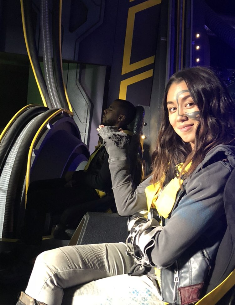 Tweet appreciation for these photos bts with Luisa #the100 #luisadoliveira<br>http://pic.twitter.com/7FyJJeLxoK