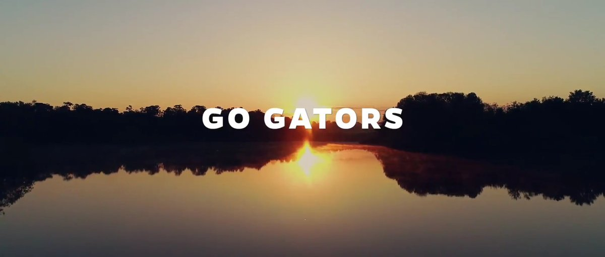 When the world starts to slow, we say Go. And when the world needs leaders, we say Gators. #GoGators