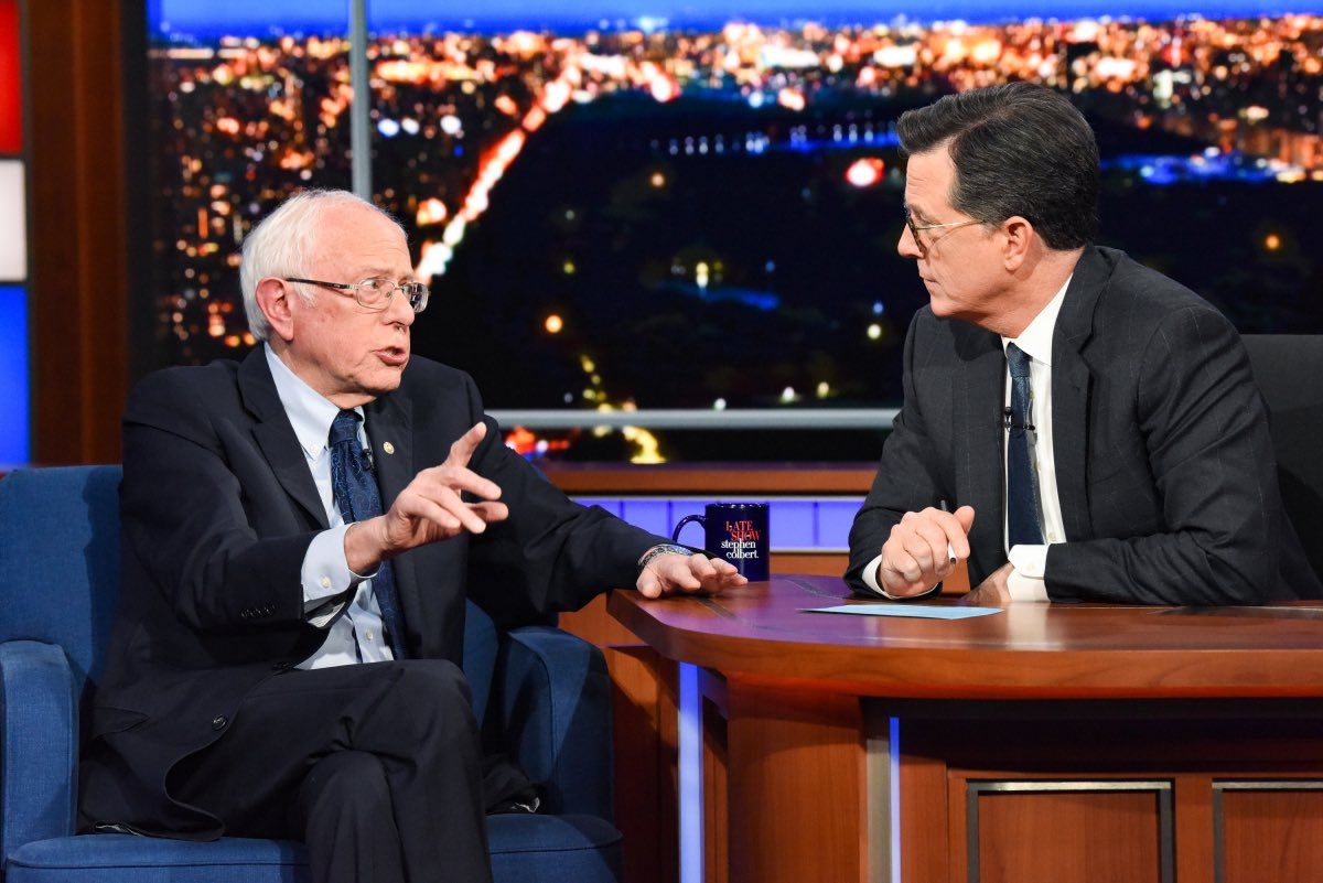 Tonight! I'm honored to be interviewing former presidential candidate Sen. Bernie Sanders from my former living room. #LSSC #FeelTheBern #WashTheHands