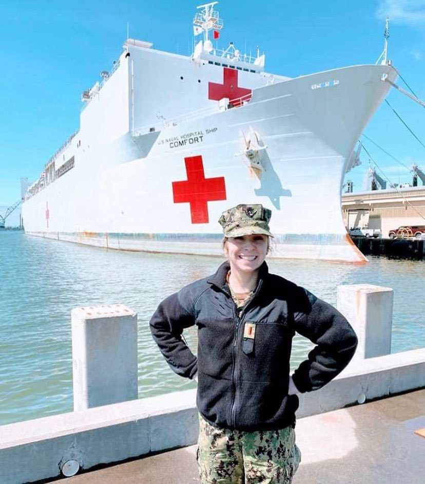 Proud of this 2015 Jet Megan Arnett on the USS MERCY in NYC!! Go Jets!!#proudtobeajet #mcslearns