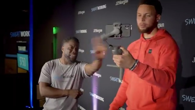 Kevin Hart was giving @StephenCurry30 some pro tips on being in front of the camera 😂