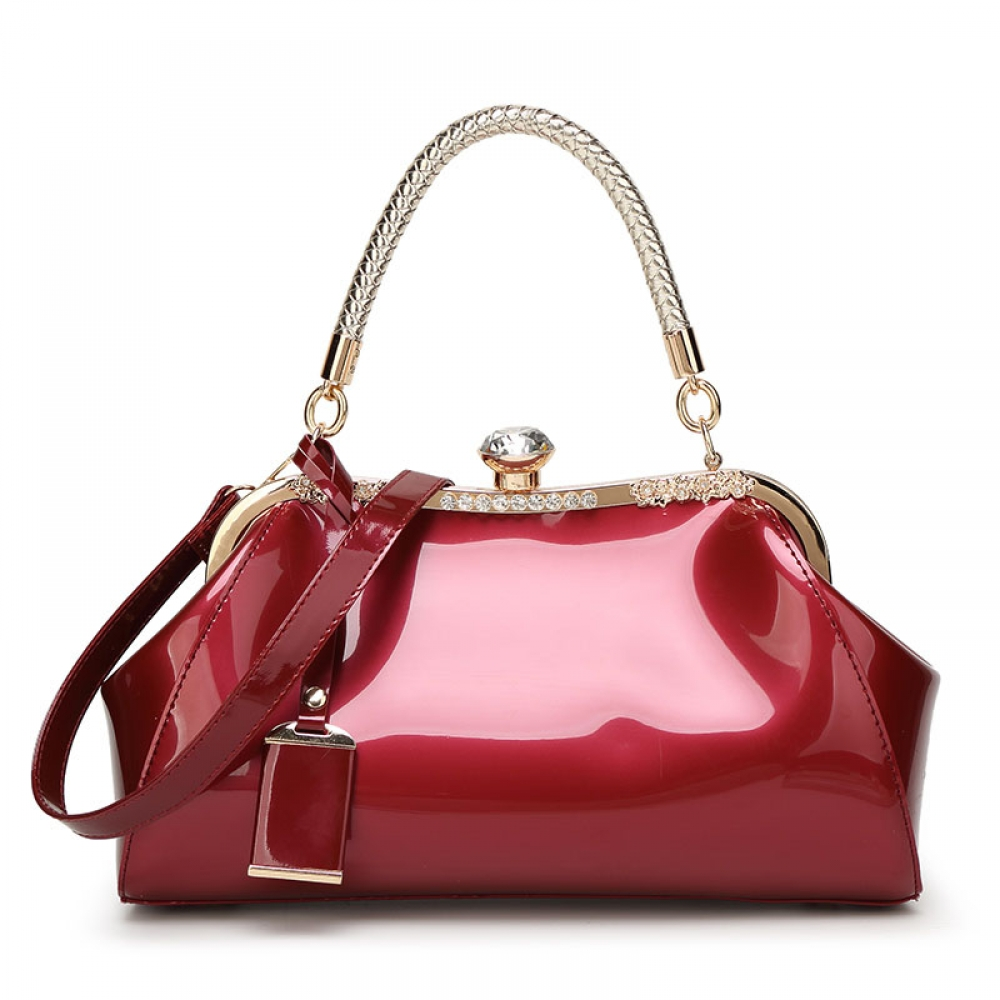 Women's Patent Leather Retro Style Handbag #swag #summer
