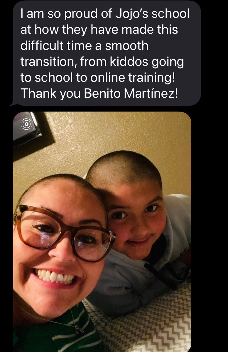 Thank you Ms Ellis, glad to hear that JoJo is doing well and that our teachers are working hard to serve our scholars #TeamSISD #PatriotPride