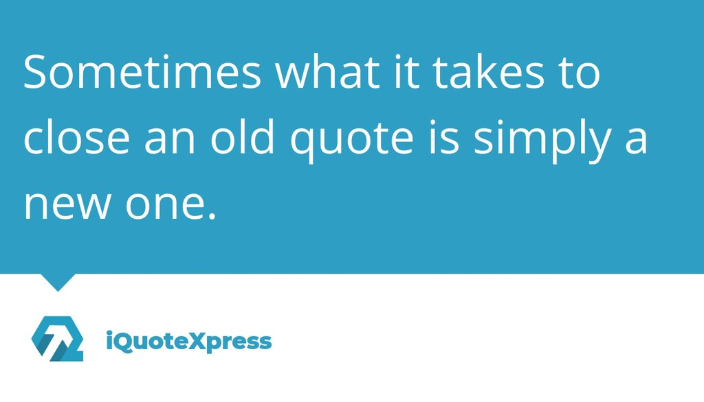 """""""I thought we'd start fresh with a fresh quote: same terms [though throwing in a little additional discount or upgrade/upsell couldn't hurt], same process.""""  Read the full article: Start 2020 by closing 2019's quotes 👉   #Sales #CPQ #Automation #SaaS"""