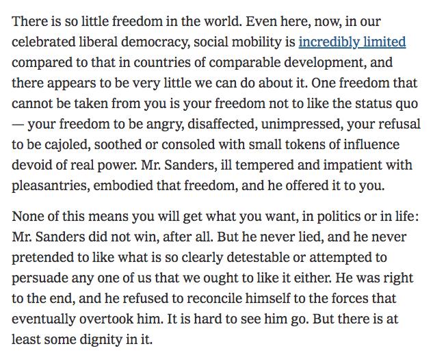 Goodbye to @BernieSanders' presidential campaign. nytimes.com/2020/04/08/opi…
