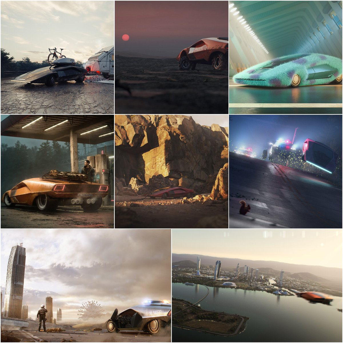 *Contests.  . TOP20 | 2020 | Lancia Stratos. . Congratulations to all the Artists & Thank you for your participation! . #vwartclub #contests #automotive #3dart #visualization #rendering #cinema4d #3dsmax #coronarenderer #vray #octanerenderer #photoshop