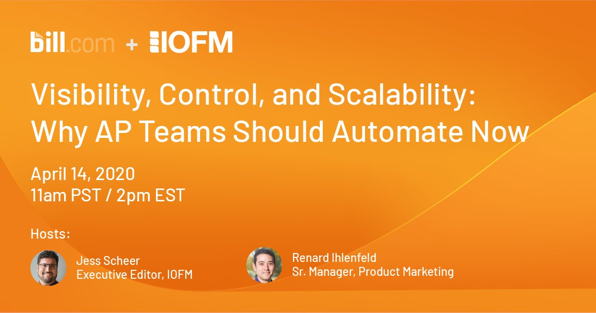 During this shift to remote work, many small #AP teams are overwhelmed by increasing volumes of invoices. Join us for a webinar on 4.14 with @APP2P and discover how #automation can boost efficiency and increase transparency: