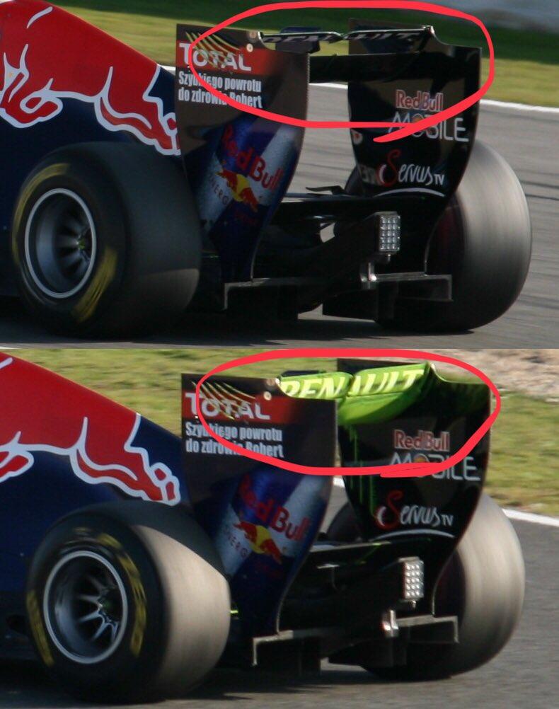 Drag reduction system(DRS) Formula 1 araçlarının kanatlarında kullanılan ve hava sürtünmesini azaltırak araçların düzlüklerde daha hızlı gitmesini sağlayan sistem. #Formula1 #DRS